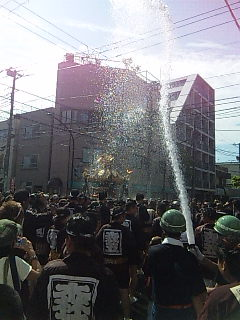 水かけ祭@深川
