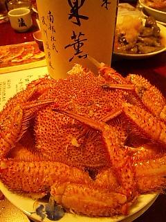 かにカニ蟹、そして旬の秋刀魚