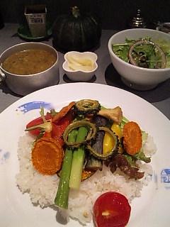 冷やし野菜カレー@おまかせ亭(渋谷)