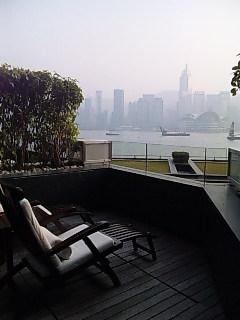 ビクトリアハーバーの眺め@インターコンチネンタル香港