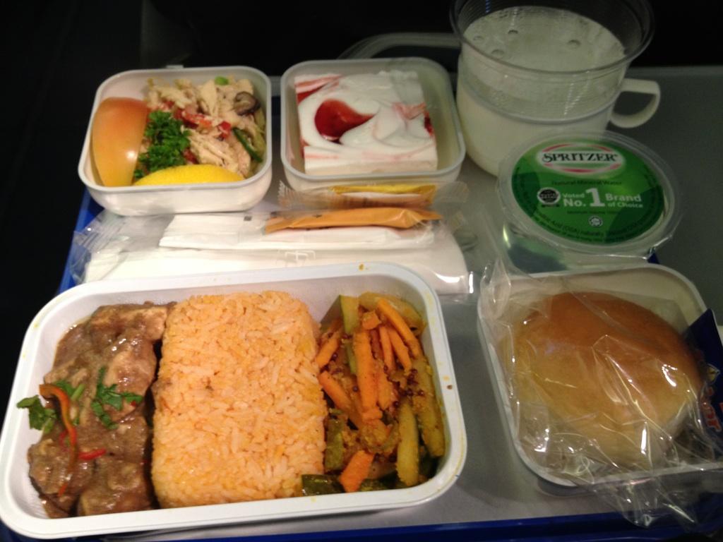 コタキナバル→香港の機内食@マレーシア航空