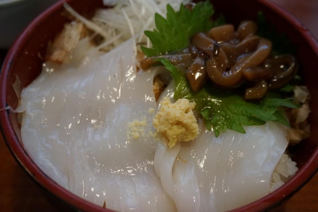 白いか丼@市場料理 賀露幸(鳥取)