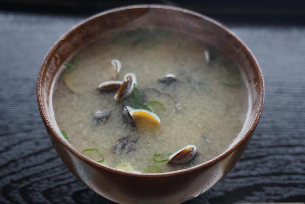 しじみ味噌汁@宍道湖しじみ館(松江)