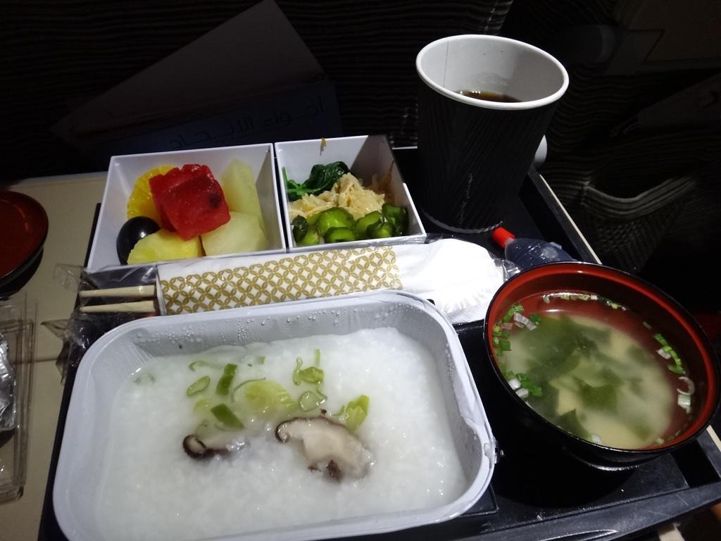 朝食@エティハド航空