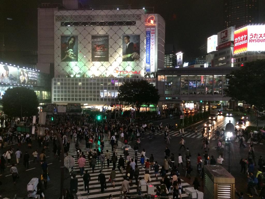 スクランブル交差点@渋谷