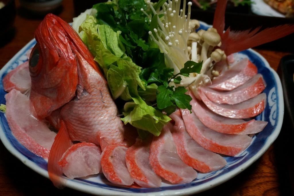 金目鯛のしゃぶしゃぶ@徳兵衝(下田・白浜)